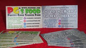 Tarjetas de visita PGs Food
