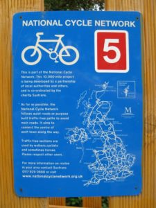 La red de rutas ciclistad en UK