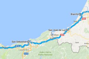 ruta llegada a francia